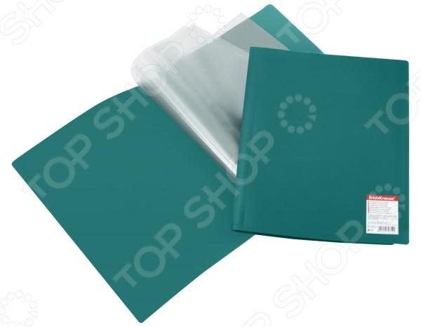 Папка с 40 файлами Erich Krause Standard на 40 файлов с карманом отлично подойдет для хранения документов или просто часто используемых рабочих бумаг формата А4. В такой папке важные бумаги не помнутся, не потеряются и всегда будут под рукой. Вы сможете упорядочить рабочую документацию, а в офисе или рабочем кабинете будет порядок.