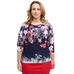 Блуза Pretty Woman «Цветочный танец». Цвет: синий