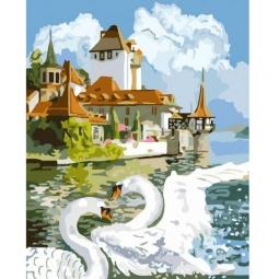 Купить Набор для рисования по номерам «Белоснежка» Лебединая пара. Уцененный товар