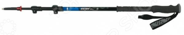 Палки трекинговые телескопические Masters Eiger HP 01S0916Палки треккинговые и для скандинавской ходьбы<br>Палки треккинговые телескопические Masters Eiger HP 01S0916 отличные палки для длинных и коротких пеших путешествий. Благодаря таким палкам можно существенно облегчить свое передвижение и снять часть нагрузки со спины, перенеся ее на руки. При изготовлении используется легкий, упругий и прочный алюминиевый сплав. Палки трехсекционные для удобства транспортировки на рюкзаке или в машине. Очень удобная, ручка эргономичной формы облегчает удержание, а шип, выполненный из прочного износостойкого металла, легко и надежно втыкается в почву, не скользит и служит очень прочной точкой опоры.<br>