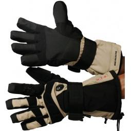 Купить Перчатки горнолыжные GLANCE X-Ray (2012-13). Цвет: черный, бежевый