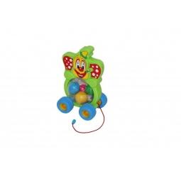 фото Каталка на веревочке для малыша Полесье «Клоун» 54425
