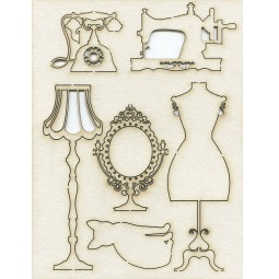 Купить Чипборд Кустарь «Дамские штучки в ретро-стиле»