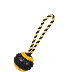 фото Игрушка для собак DEZZIE «Протекторный мяч на веревке»