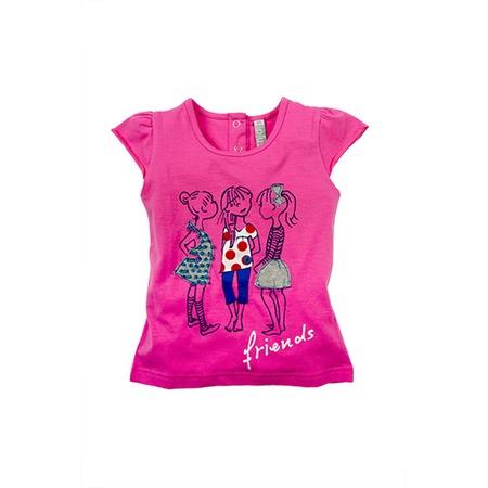 Купить Футболка для девочек Besta Plus Friends. Цвет: розовый