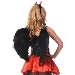 фото Крылья карнавальные Accessories «Ангельские». Цвет: черный