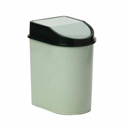 фото Контейнер для мусора с качающейся крышкой IDEA М 2480. Цвет: белый. Объем: 5 л
