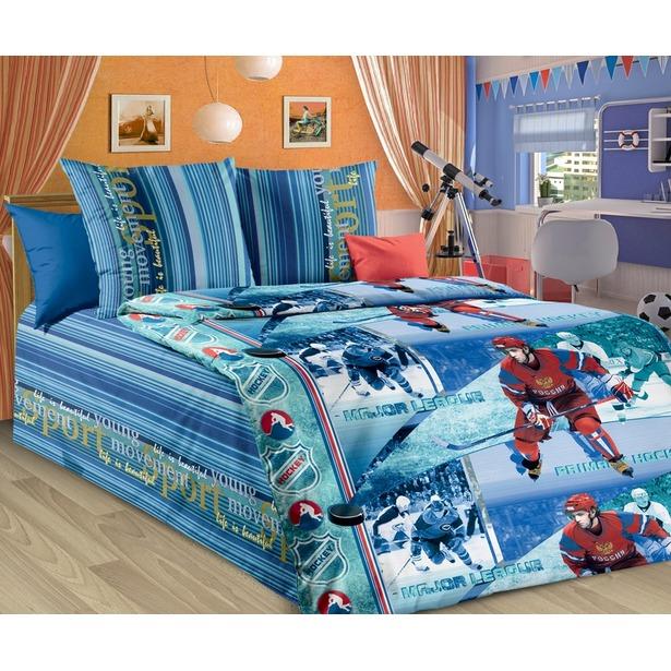 фото Детский комплект постельного белья Бамбино «Хоккей»