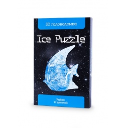 фото Пазл-конструктор 3D Ice Puzzle «Рыбка». Цвет: голубой