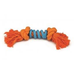 фото Игрушка для собак Beeztees «Канат с 2 узлами и спиралью»
