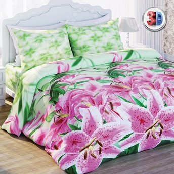 Комплект постельного белья Любимый дом Лилии. 1,5-спальный