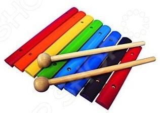Ксилофон детский RNToys Д-487Игрушечные музыкальные инструменты<br>Ксилофон детский RNToys Д-487 музыкальный инструмент, игра на котором способствует развитию музыкального слуха и мелкой моторики пальчиков. Ксилофон подойдет любому ребенку, независимо от того, знаком ли он с нотной грамотой или же только начинает узнавать все тонкости мира музыки. Игрушка изготовлена из высококачественной древесины, окрашена в яркие цвета, которые создают еще более радостное настроение во время игры. Ксилофон с 8-ю тонами позволяет воспроизводить разные по высоте звуки с помощью специального молоточка. Ксилофон, помимо развития музыкального слуха, способствует улучшению координации движений, развитию тактильных ощущений, ловкости. Несомненно, наличие музыкального инструмента, пусть и игрушечного, прививает ребенку любовь к музыке и развивает его эмоционально. Комплектация:  ксилофон;  палочки 2шт.<br>