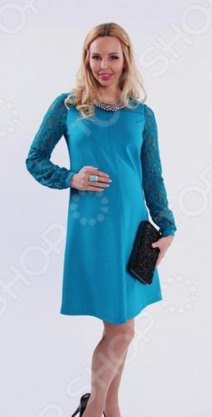 Платье для беременных Nuova Vita 2151.01. Цвет: бирюзовый цена 2017