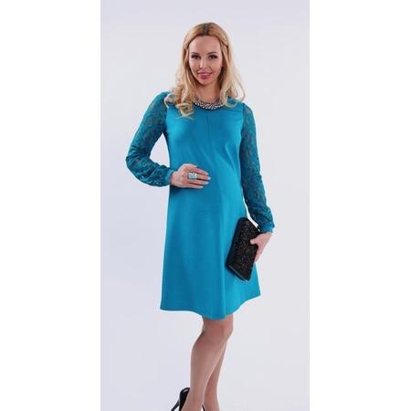 Купить Платье для беременных Nuova Vita 2151.01. Цвет: бирюзовый