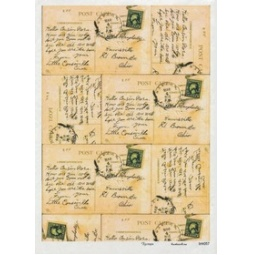 Купить Карта декупажная Кустарь «Старинные письма»