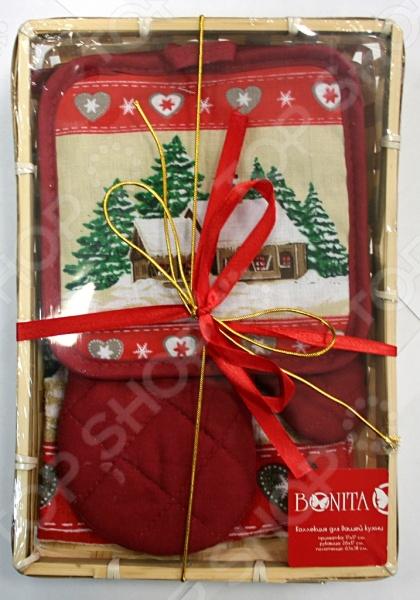 Комплект кухонный подарочный BONITA 110120008 комплект д кухни soavita kitchen петушок прихватка и вареж арт 86241 86244