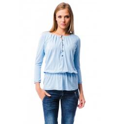 фото Блузка Mondigo 6102. Цвет: голубой. Размер одежды: 44