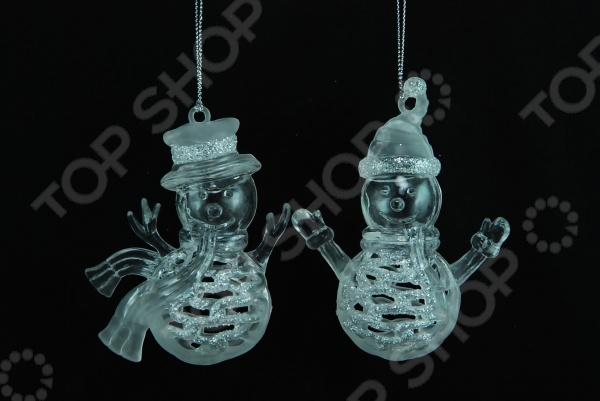 Елочное украшение Crystal Deco «Снеговик». В ассортименте