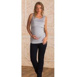 Купить Майка для беременных Nuova Vita 1115.2. Цвет: серый