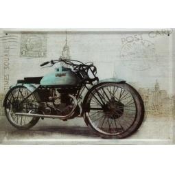 фото Картина на металле Феникс-Презент «Мотоцикл»
