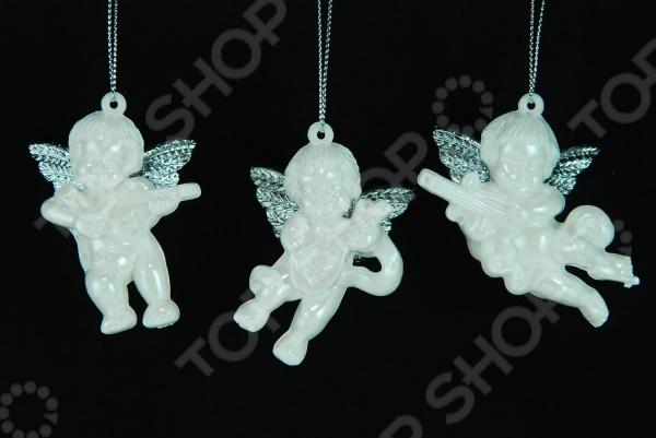 Елочное украшение Crystal Deco «Ангелочек». В ассортименте Елочное украшение со светодиодами Crystal Deco «Ангелочек» 1707701 /Белый