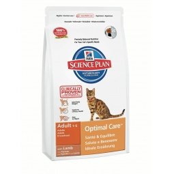 фото Корм сухой для кошек Hill's Science Plan Optimal Care с ягненком. Вес упаковки: 5 кг