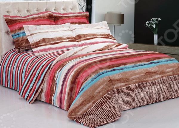 Комплект постельного белья Softline 09817. 1,5-спальный1,5-спальные<br>Комплект постельного белья Softline 09817. 1,5-спальный необычайно стильный и красивый - станет украшением любой спальни и подарит крепкий и здоровый сон. Ваша постель будет выглядеть безупречно. Комплект выполнен из сатина - 100 хлопка, практичного и качественного материала, приятного на ощупь, кроме того, сатин отлично держит тепло. Важным преимуществом сатина перед другими тканями является то, что он практически не мнется, не боится большого количества стирок, при этом сохраняя первоначальные потребительские качества. При изготовлении данной серии постельного белья, были использованы красители высшего качества, безопасные для здоровья и долговечные. Роскошное постельное белье очарует вас и великолепным образом преобразит вашу спальню.<br>