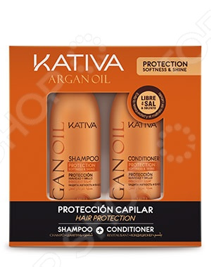 Набор увлажняющий для волос: шампунь и кондиционер Kativa 65803074 Argana kativa argan oil набор увлажняющий шампунь и кондиционер с маслом арганы 2х100 мл