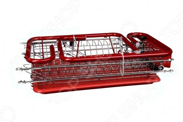 Сушилка для посуды Rosenberg 6840Сушилки для посуды<br>Сушилка для посуды Rosenberg 6840 полезный в быту предмет для хранения и сушки посуды. Конструкция оснащена удобными отделениями для тарелок, кухонных приборов и стаканов. Имеет вместительный поддон для сбора воды, который избавит вам от траты времени на вытирание посуды после мытья. Вы сможете без труда установить сушилку рядом с раковиной. Стальная часть конструкции защищена от коррозии. Сушилка для посуды Rosenberg 6840 станет незаменимой на кухне. Компактность сушилки позволит расположить ее по вашему усмотрению. Оригинальный и современный внешний вид идеально дополнит интерьер кухни.<br>