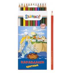 фото Набор карандашей цветных Silwerhof «В гостях у сказки»