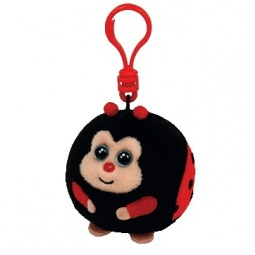 фото Мягкая игрушка с клипсой TY Божья коровка DOTS. Высота: 12,5 см
