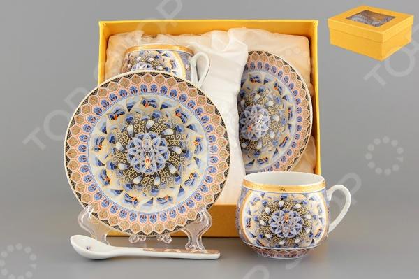 Кофейная пара с ложками Elan Gallery «Калейдоскоп»
