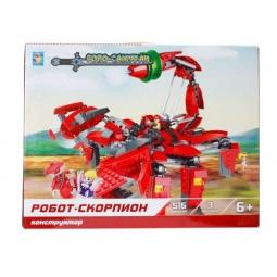 Купить Конструктор игровой 1 Toy «Робосамураи. Робот-скорпион»