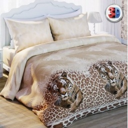 фото Комплект постельного белья Комфорт «Малайский тигр». 2-спальный