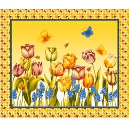 фото Комплект из 3-х кухонных полотенец подарочный ТексДизайн «Вероника, Маки, Весна»