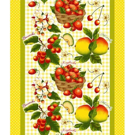 Купить Полотенце вафельное ТексДизайн «Фруктовый сад»