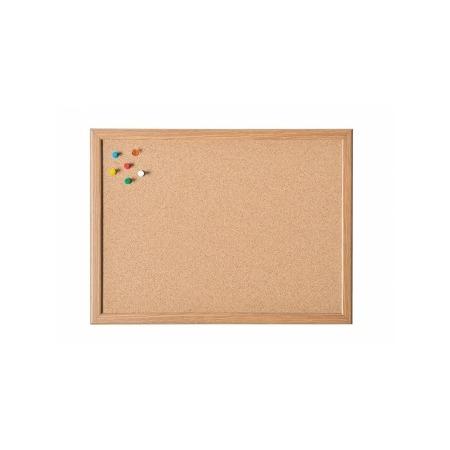 Купить Доска настенная пробковая с деревянной рамкой Magnetoplan