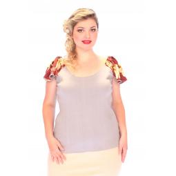 Блуза СВМ-ПРИНТ «Орианна». Цвет: серый