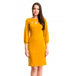 фото Платье Mondigo 5196. Цвет: горчичный. Размер одежды: 48