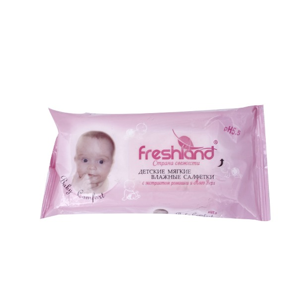фото Набор салфеток влажных очищающих детских Freshland PK-850258
