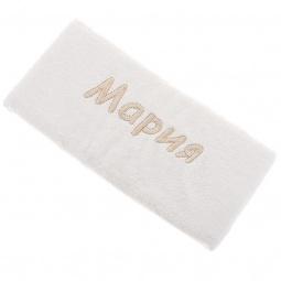 фото Полотенце подарочное с вышивкой TAC Марина. Цвет: молочный
