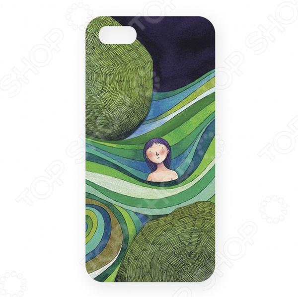 Чехол для iPhone 5 Mitya Veselkov «Девочка в зеленых волнах»