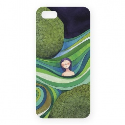 фото Чехол для iPhone 5 Mitya Veselkov «Девочка в зеленых волнах»