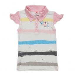 фото Футболка-поло детская Fore N Birdie Distress Stripe Printed Rhinestone Embellished