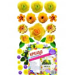 фото Наклейка декоративная Креатто «Волшебные цветы». Цвет: желтый