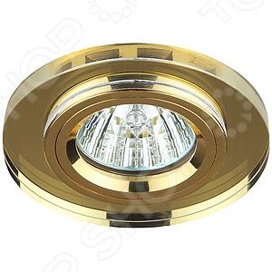 Светильник светодиодный встраиваемый Эра DK7 GD/YL