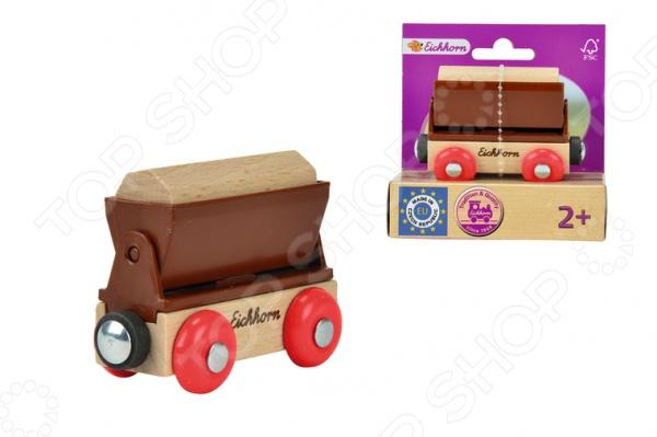 Игрушка деревянная Eichhorn «Грузовой вагон»