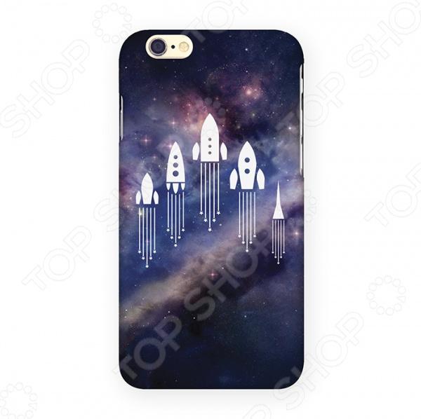купить Чехол для iPhone 6 Mitya Veselkov «Ракеты в космосе» недорого