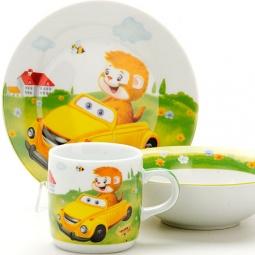 фото Набор посуды детский Loraine «Машинка»