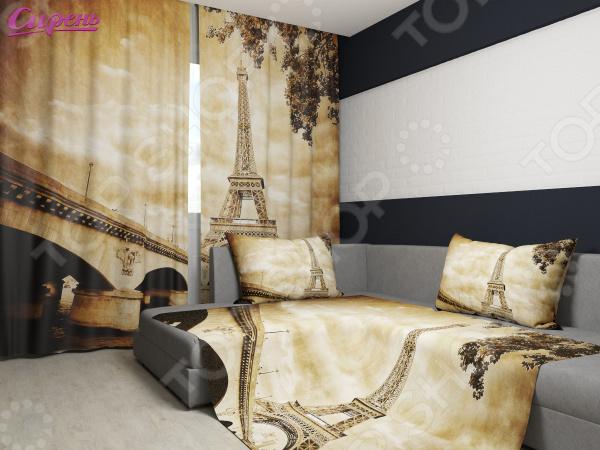 Комплект: фотошторы и покрывало Сирень «Ретро-Париж»Фотошторы<br>Комплект: фотошторы и покрывало Сирень Ретро-Париж элемент, способный украсить и оживить интерьер любой комнаты. Застелите ваш диван или кровать этим покрывалом, и привычная мебель станет еще уютнее, чем раньше. А шторы, выполненные в едином стиле с покрывалом, станут завершающим штрихом в оформлении комнаты. При этом такой комплект может стать хорошим подарком близкому человеку. В комплекте вы найдете:  Две фотошторы, размер каждой из которых составляет 145х260 см 3 см .  Покрывало размером 145х220 см 3 см . Оцените основные преимущества комплекта из коллекции бренда Сирень :  Оригинальный дизайн придаст изюминку интерьеру.  Сделано из качественных износостойких материалов. Изображение на ткани долго не линяет и не выгорает.  Рисунок нанесен на материал при помощи специальной технологии, создающей эффект 3D. Смотрится очень эффектно. Покрывало и шторы выполнены из ткани габардин, состоящей на 100 из полиэстера. На поверхности полотна заметны диагональные рубчики, полученные в результате саржевого плетения в процессе производства. В результате изделие отличается своей прочностью и долговечностью, сохраняет первоначальный вид в течение длительного времени. Рекомендуется ручная стирка при температуре 30 C или в стиральной машине в деликатном режиме. Шторы крепятся при помощи шторной ленты под крючки .<br>